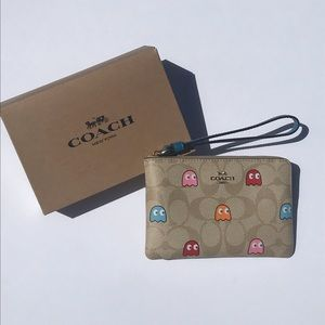Coach x Pac-Man Ghost Wristlet Wallet